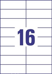 Etykieta uniwersalna Economy EC9165-100, rozmiar 105 x 37mm, 1600 etykiet