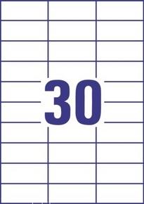 Etykieta uniwersalna Economy EC9175-100, rozmiar 70 x 29,7mm, 3000 etykiet