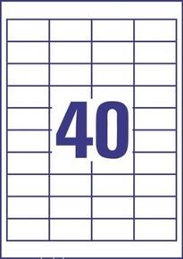 Etykieta uniwersalna Economy EC9178-100, rozmiar 48,5 x 25,4mm, 4000 etykiet