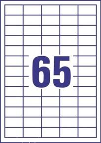 Etykieta uniwersalna Economy EC9184-100, rozmiar 38 x 21,2mm, 6500 etykiet