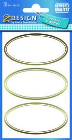 Z-Design 59419 Naklejka spiżarniana - owalne etykiety 2 arkusze, 6 naklejek